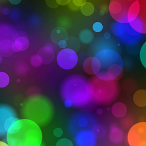 Bokeh or Blurred Lights 47: Bokeh, or blurred background lights in rainbow colours on black. Great for a background, scrapbooking, xmas greetings, texture, or fill. You may prefer:  http://www.rgbstock.com/photo/mHMHFPs/Blurred+Lights+-+Bokeh+1  or:  http://www.rgbstock.com/photo/nY