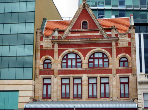 city architecture5: contrasting historic and modern architectural styles