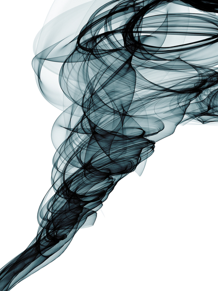 Smokey Ribbon: Abstract ribbon of black smoke.