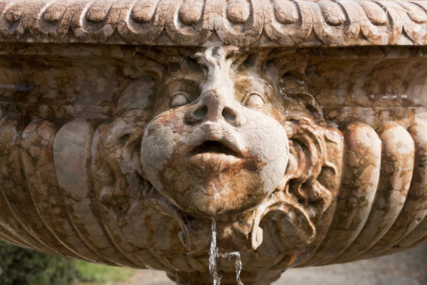 Face on a fountain