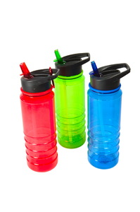 Colourful water bottles