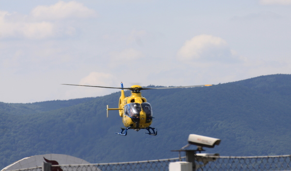 Yellow rescue helicopter 2