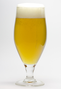 Cold beer: A cold, fresh, unfiltered German beer