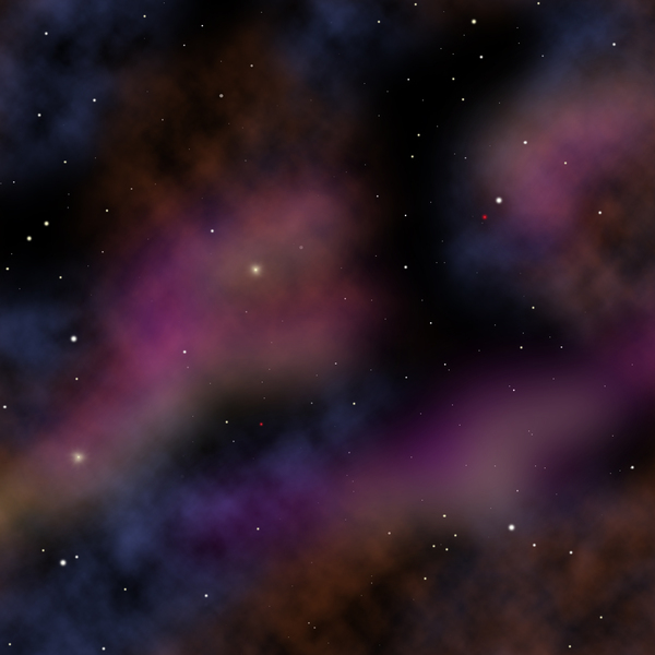 Stars and nebulae graphic