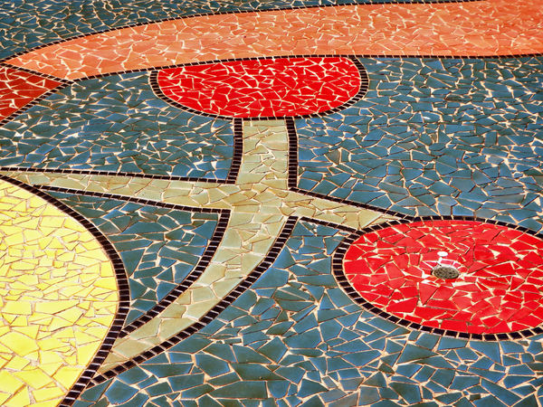 playground mosaic4: large public park playground abstract/semi-abstract mosaic patterns