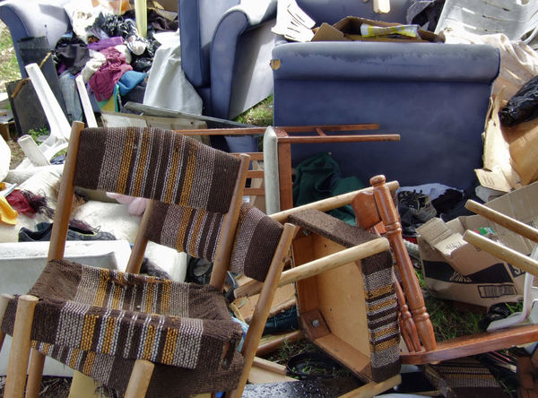 unwanted4: unwanted personal & household items dumped for roadside collection