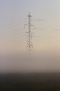 Electricity Pylon in mist