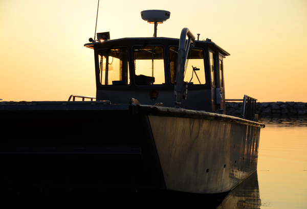 Working Boat at Sunset