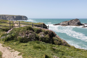 Coast path: A coastal footpath in Cornwall, England.