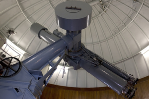 Telescope in observatory