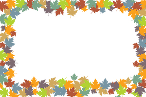 colorful leaves border