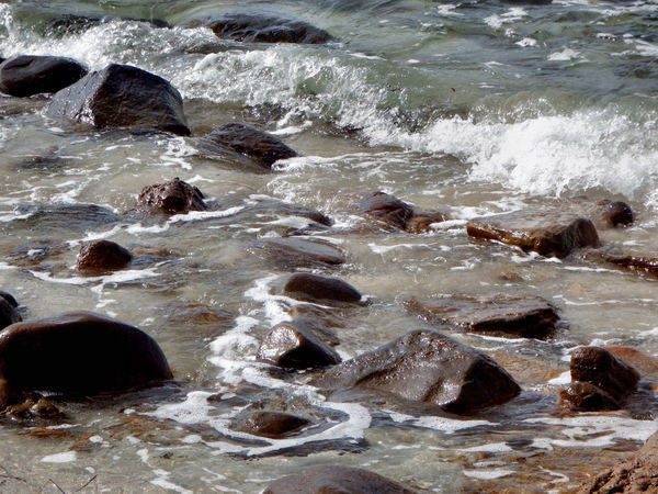 rocky surfaces8: rocks on the ocean shoreline