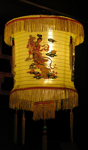 Yellow night lantern: Yellow Chinese lantern