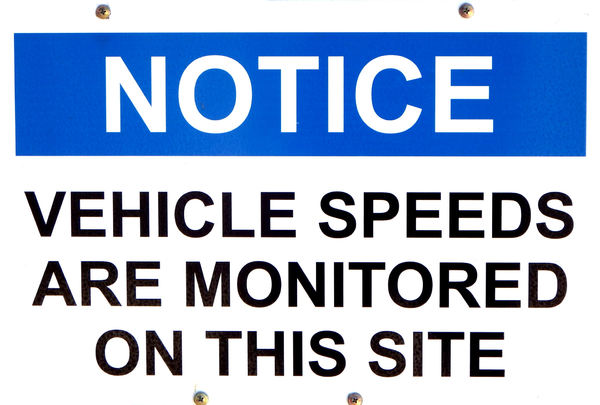 watch your speed1: sign indicating vehicle speed monitoring