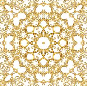 Gold Filigree Seamless Tile 3