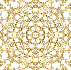Gold Filigree Seamless Tile 5
