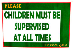 parental responsibility1: parent supervision required at play centre