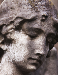 Angel Close-up: An angel in a country graveyard.