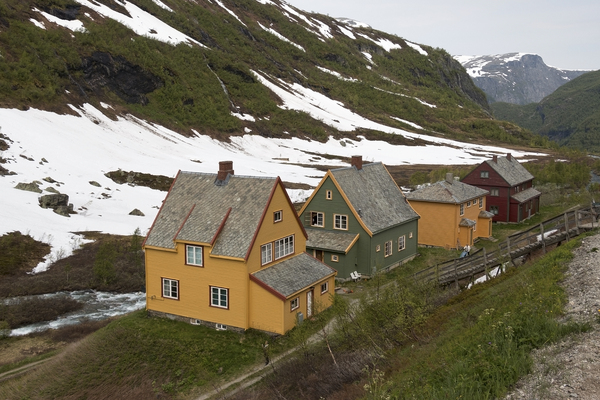 Mountain valley houses