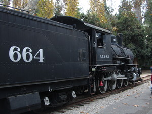 Locomotive 664: Steam locomotive at Travel Town, L.A. California
