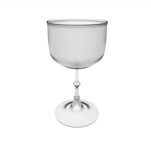 frosted wine glass: 3D computer graphic