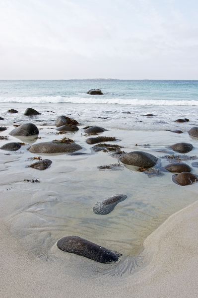 Boulders in the sea