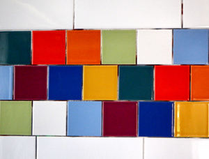 coloured wall tiles5: bright pastel coloured wall tiles