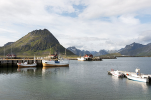 Harbour and mountains