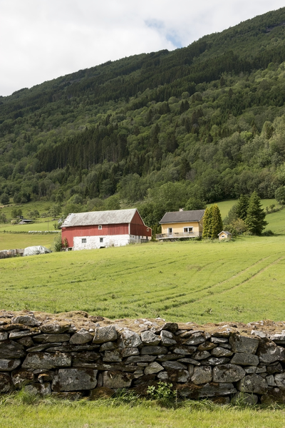 Farmhouse: A farmhouse in Norway.