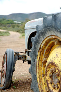 Past its sell-by date: A derelict tractor.NB: Credit to read