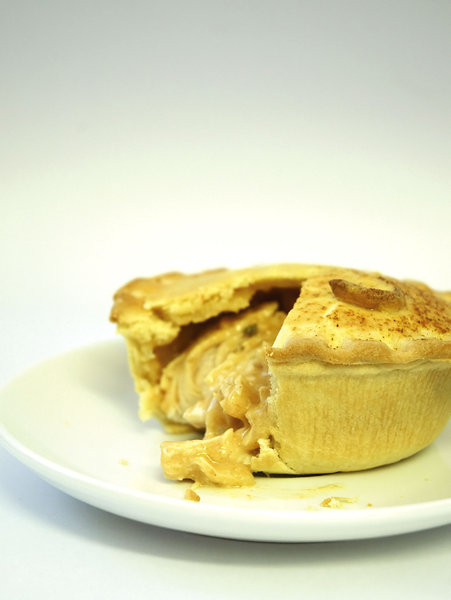 Thai Chicken Pie: Delicious pie. Photographed. Eaten. Enjoyed.NB: Credit to read