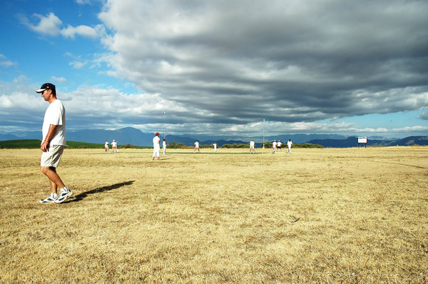 Just cricket: Farmer's boxing day annual cricket match, Swartland, South Africa.NB: Credit to read