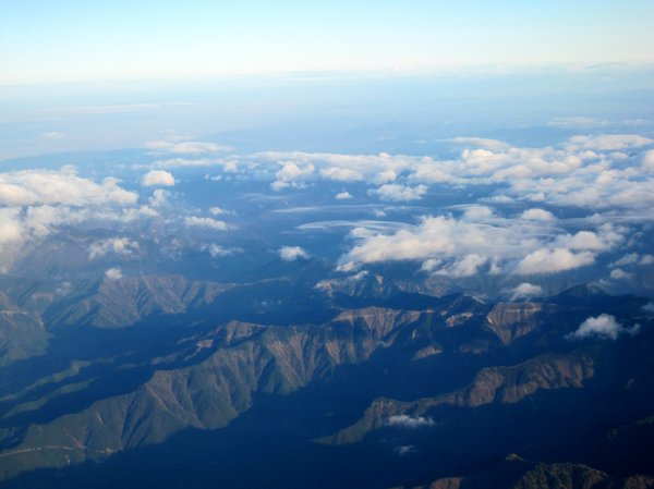 Mountain Range 1: Aerial view of mountain range