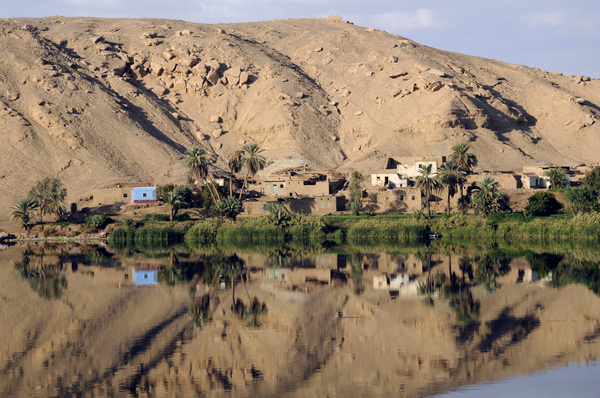 Reflection: Reflections in the Nile, Egypt.