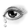 Eye and tears: Beautiful eye and tears