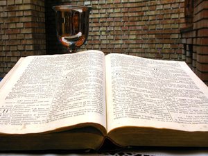 Bible and cup: