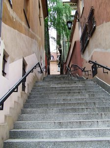 stairs: stairs passage in Warsaw
