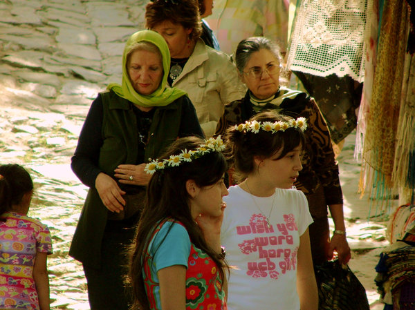 Turkish Girls and women: Women and girls in Sirince, a small and lovely wine village at the Aegean Coast.