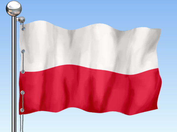 Flag of Poland: Polish flag in 3 background versions