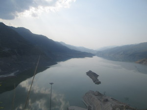Lake: Photo of Tehri Dam Lake.India
