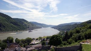 River Rhine valley: A part of the river Rhine valley in the Mid Rhine valley Germany.