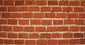 Brick texture: Shot of a brick wall