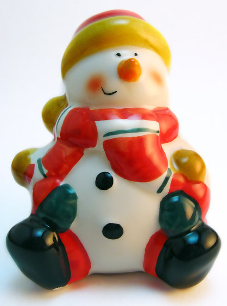 Snowman figure: Porcelain figure of a snowman