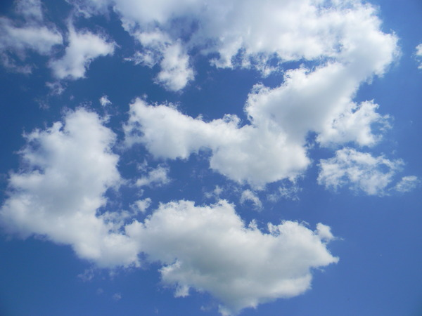 Clouds 2: Beautiful blue sky with white clouds