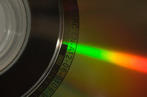 CD close up: close up of a CD.