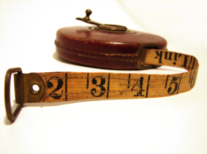 Measuring time: an old tape measure