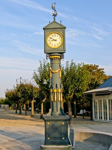 historic street clock: historic street clock in Ahlbeck, Usedom, Germany (built in 1911)