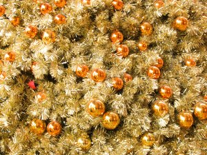 christmas tree and baubles: christmas tree and baubles texture