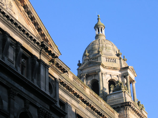 victorian architecture - tower: victorian architecture from Glasgow, Scotland - tower detail
