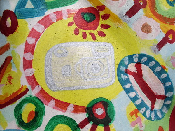 abstract camera painting: